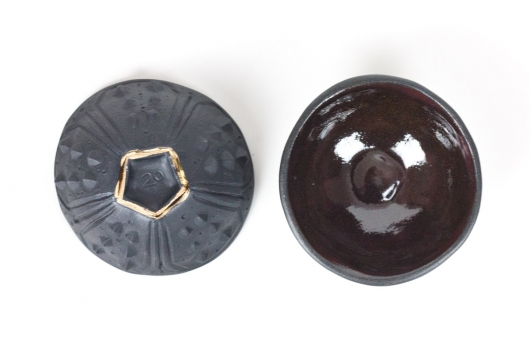 Urchin Mini bowl - black, Urchin Bowls -  artwork by Emily Miller
