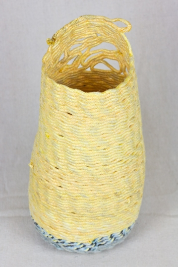 Yellow-Face Pod, Ghost Net Baskets -  artwork by Emily Miller