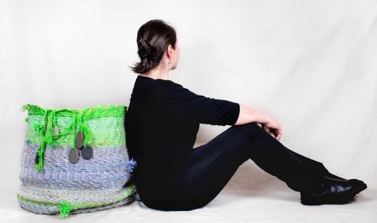 Mega Basket, Ghost Net Baskets -  artwork by Emily Miller