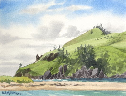 Cascade Head from Salmon River, 2021