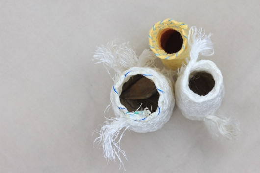 Reliquaries For Your Journey, Ghost Net Baskets -  artwork by Emily Miller
